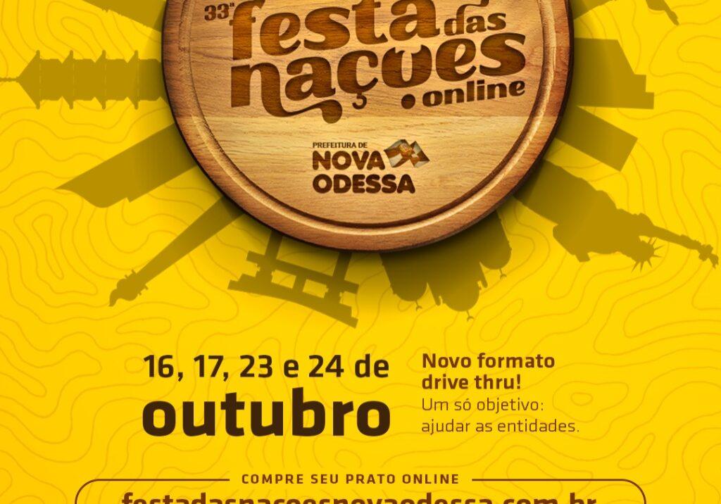 Flyer Festa das Nações Nova Odessa 2021