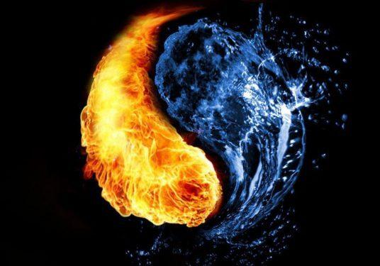 Sonhar-com-fogo-e-água